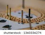 cribbage board close up macro... | Shutterstock . vector #1360336274