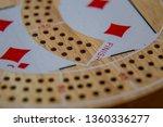 cribbage board close up macro... | Shutterstock . vector #1360336277