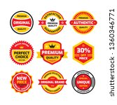 set retro business badge vector ... | Shutterstock .eps vector #1360346771