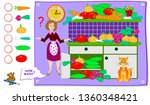 printable educational page for... | Shutterstock .eps vector #1360348421