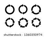 recycle icon vector... | Shutterstock .eps vector #1360350974