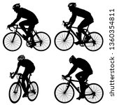 set silhouette of a cyclist... | Shutterstock . vector #1360354811