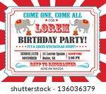 Circus Happy Birthday Card...