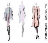 hand drawn fashion illustration.... | Shutterstock .eps vector #1360400741