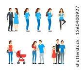 cartoon characters family... | Shutterstock . vector #1360400927