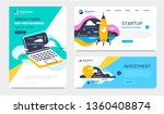 vector set of template with... | Shutterstock .eps vector #1360408874