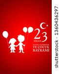 23 april children's day turkish ... | Shutterstock .eps vector #1360436297