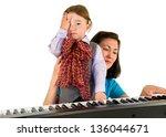 one small little boy learning... | Shutterstock . vector #136044671