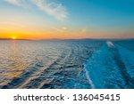 Sunset From Ship At...