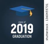 class of 2019  graduarion... | Shutterstock .eps vector #1360455731