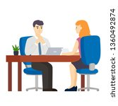 job interview. meeting a new...   Shutterstock .eps vector #1360492874