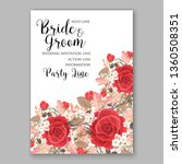 red scarlet rose wedding... | Shutterstock .eps vector #1360508351