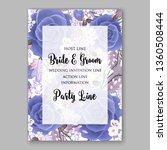 navy blue rose wedding... | Shutterstock .eps vector #1360508444