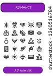 romance icon set. 25 filled... | Shutterstock .eps vector #1360516784