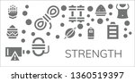 strength icon set. 11 filled... | Shutterstock .eps vector #1360519397
