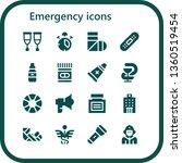 emergency icon set. 16 filled... | Shutterstock .eps vector #1360519454
