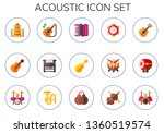 acoustic icon set. 15 flat... | Shutterstock .eps vector #1360519574