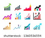 set of graph icon. profits... | Shutterstock .eps vector #1360536554