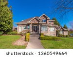beautiful exterior of newly... | Shutterstock . vector #1360549664