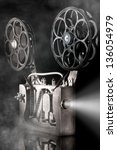movie projector with the film | Shutterstock . vector #136054979