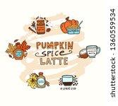 pumpkin spice latte vector... | Shutterstock .eps vector #1360559534