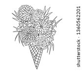 beautiful bouquet of flowers in ... | Shutterstock .eps vector #1360562201