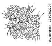 flower bouquet vector... | Shutterstock .eps vector #1360562204