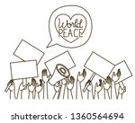 hands with protest sign and...   Shutterstock .eps vector #1360564694