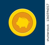 gold coin with a pig icon   Shutterstock .eps vector #1360596017