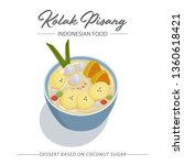 kolak pisang is an indonesian... | Shutterstock .eps vector #1360618421