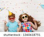 high top view with happy...   Shutterstock . vector #1360618751