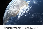 planet earth view from space - stock photo