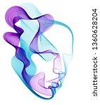 beautiful futuristic... | Shutterstock .eps vector #1360628204