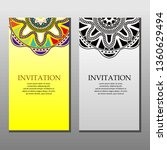 invitation or greeting card set.... | Shutterstock .eps vector #1360629494