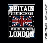 design london britain flag... | Shutterstock .eps vector #1360631024