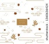 japanese pattern background... | Shutterstock .eps vector #1360636424