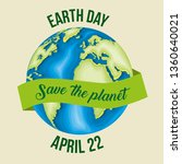 planet with ribbon to earth day ...   Shutterstock .eps vector #1360640021
