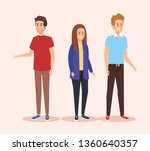 girl and boys with hairstyle... | Shutterstock .eps vector #1360640357