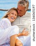 portrait of a happy romantic...   Shutterstock . vector #136065197