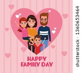 happy family day card | Shutterstock .eps vector #1360653464