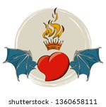 tattoo studio old school | Shutterstock .eps vector #1360658111