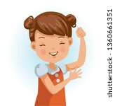 healthy little girl. positive... | Shutterstock .eps vector #1360661351