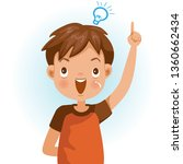 boy success. figured out ... | Shutterstock .eps vector #1360662434