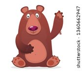 Funny Cartoon Bear. Vector...