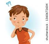 boy wonder. question mark. the...   Shutterstock .eps vector #1360672604