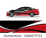 car decal wrap design template... | Shutterstock .eps vector #1360675721