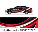 car decal wrap design template... | Shutterstock .eps vector #1360675727
