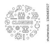 cloning vector minimal concept... | Shutterstock .eps vector #1360683527