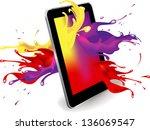 magical color splash from... | Shutterstock .eps vector #136069547