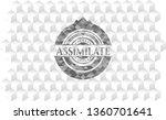 assimilate grey emblem. retro...   Shutterstock .eps vector #1360701641